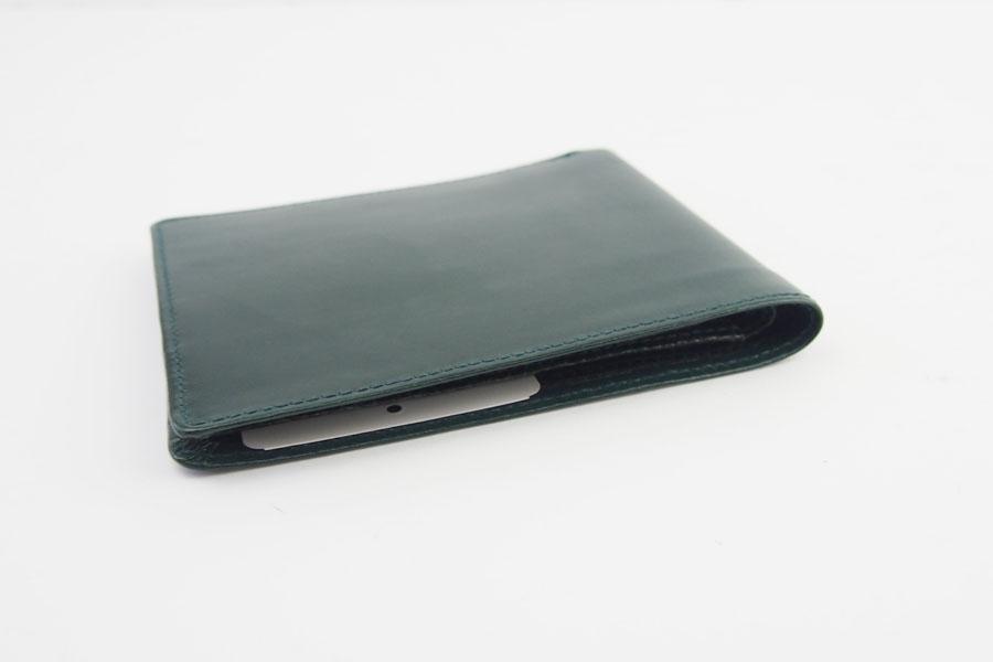 <ロウナーロンドン>折財布グリーンカーフ×リザードイメージ03