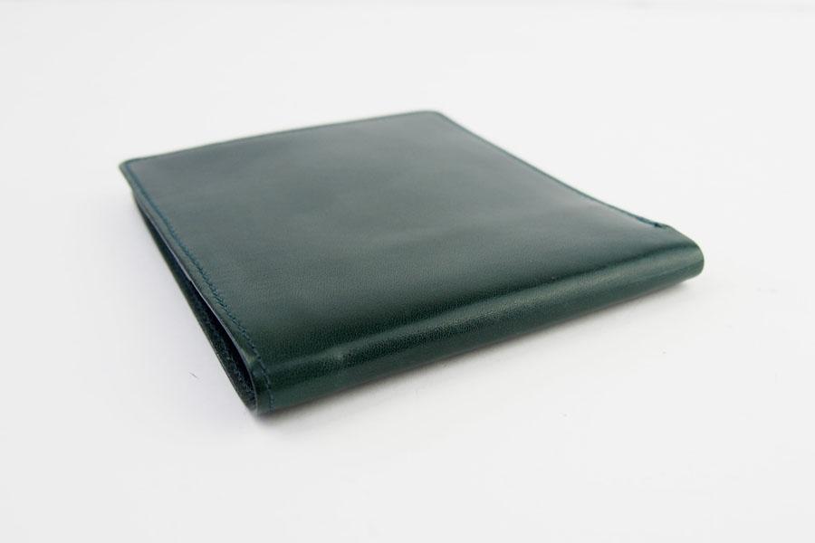 <ロウナーロンドン>折財布グリーンカーフ×リザードイメージ04