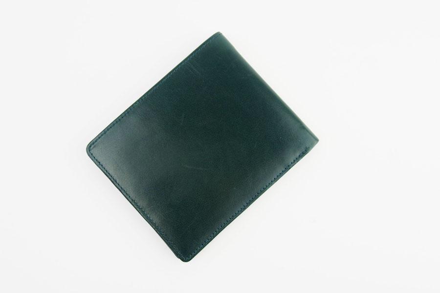 <ロウナーロンドン>折財布グリーンカーフ×リザードイメージ05