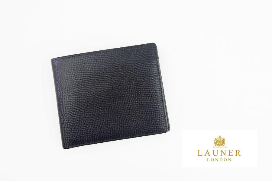 <ロウナーロンドン>折財布ブラック×スカーレットイメージ01