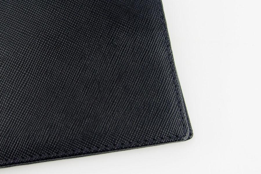 <ロウナーロンドン>折財布ブラック×スカーレットイメージ02