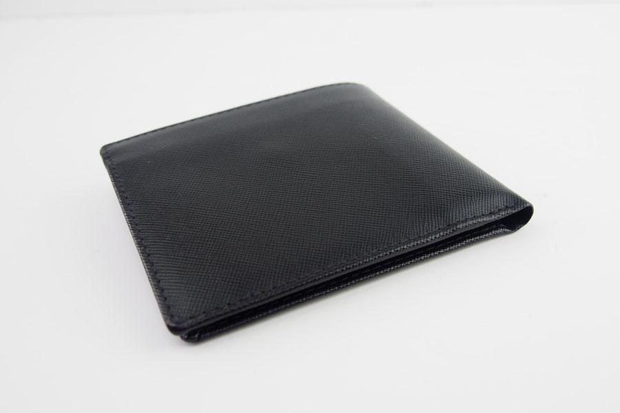 <ロウナーロンドン>折財布ブラック×スカーレットイメージ05