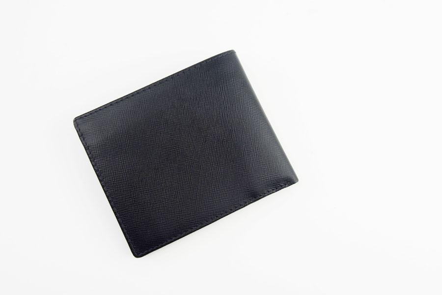 <ロウナーロンドン>折財布ブラック×スカーレットイメージ06