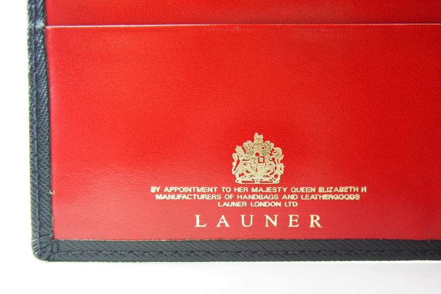 <ロウナーロンドン>折財布ブラック×スカーレットイメージ09