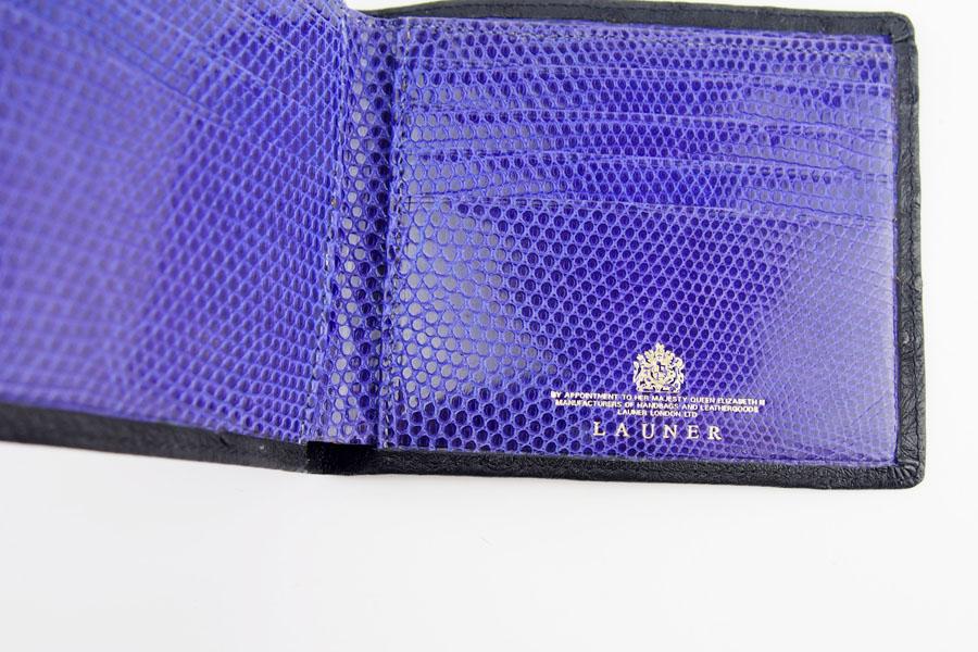 <ロウナーロンドン>折財布オーストリッチ×リザードイメージ07