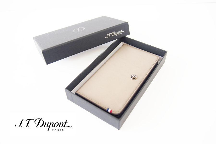 エス・テー・デュポン|S.T. Dupont|フォン|スマホ|レザーケース|ラインD|180743|Samsung Galaxy S5|ベージュイメージ01