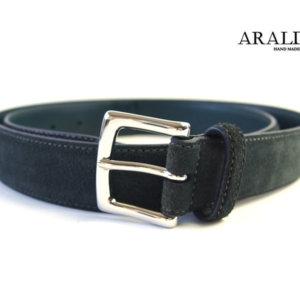 アラルディ|ARALDI 1930|レザー&スエードコンビベルト|グリーン×ネイビーイメージ01