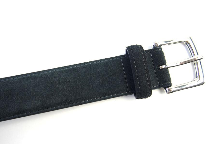 アラルディ ARALDI 1930 レザー&スエードコンビベルト グリーン×ネイビーイメージ010