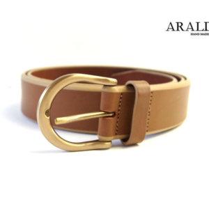 アラルディ|ARALDI 1930|トリムレザーベルト|ナチュラルブラウン|95イメージ01