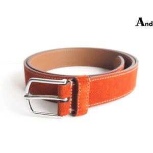 アンダーソンズ Anderson's スエードベルト 85 オレンジブラウンイメージ01
