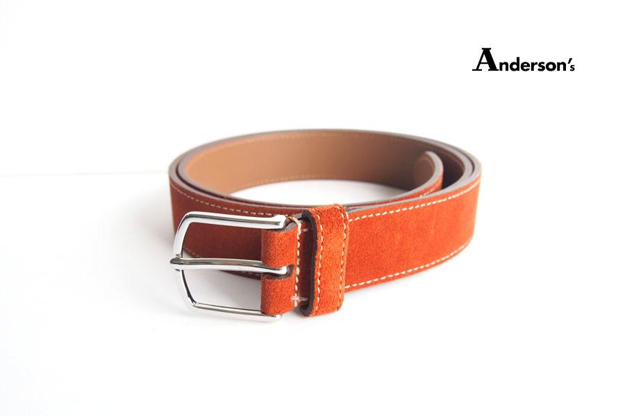 アンダーソンズ|Anderson's|スエードベルト|85|オレンジブラウンイメージ01
