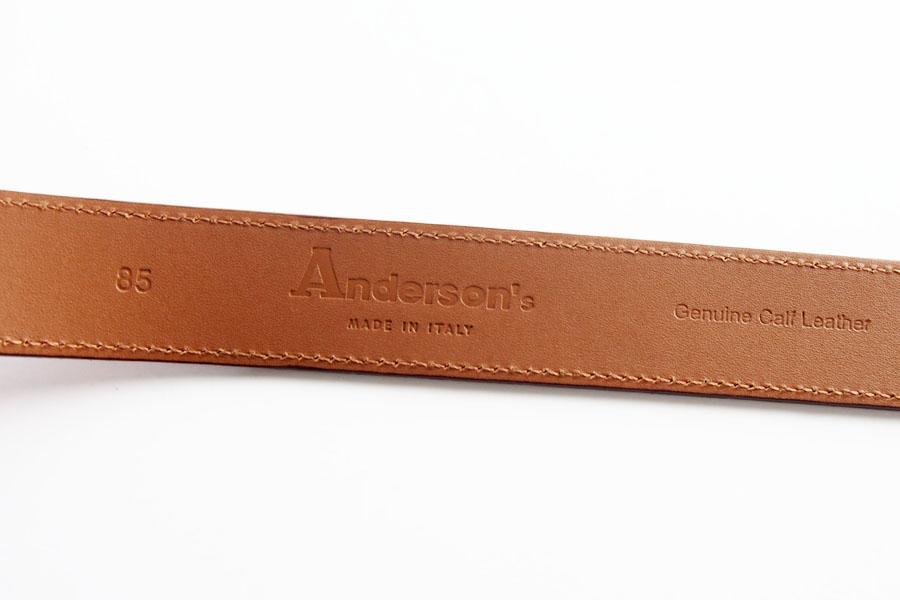 アンダーソンズ|Anderson's|スエードベルト|85|オレンジブラウンイメージ06