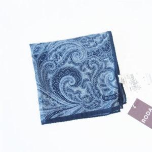<ロダ RODA>ポケットチーフ(コットン ブルー)イメージ01