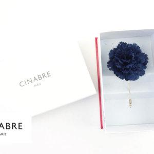 シナブル パリ|CINABRE PARIS|ブートニエール|フラワーラペルピン|ブローチ|コサージュ|ネイビーイメージ01