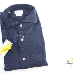 ジャンネット|GIANNETTO|コットンジャージワイドカラーシャツ SLIM FIT|3G19100L84イメージ01