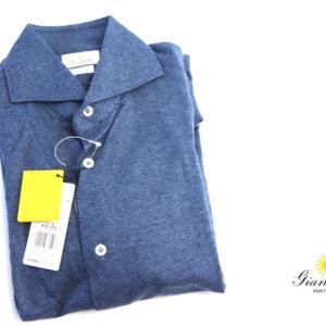 ジャンネット GIANNETTO コットンジャージワイドカラーシャツ SLIM FITイメージ01