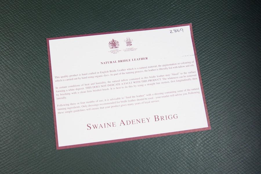 スウェイン・アドニー|Swaine Adeney|アタッシュケース|40FS イメージ010