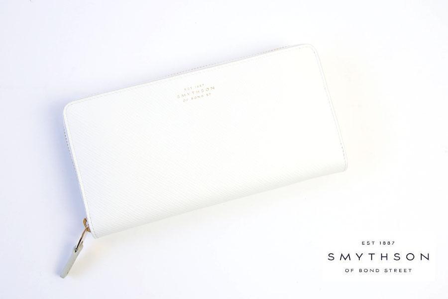 スマイソン|SMYTHSON|パナマ|ラウンドジップ長財布|ホワイトイメージ011