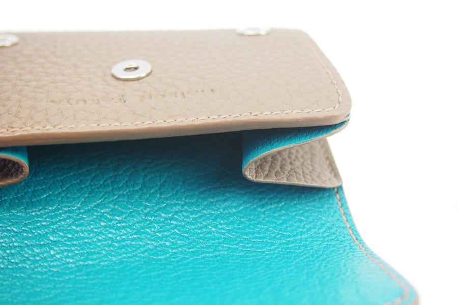 メゾンタクヤ|MAISON TAKUYA|小銭入れ付三つ折り財布|WX Wallet|ベージュ×ターコイズイメージ011