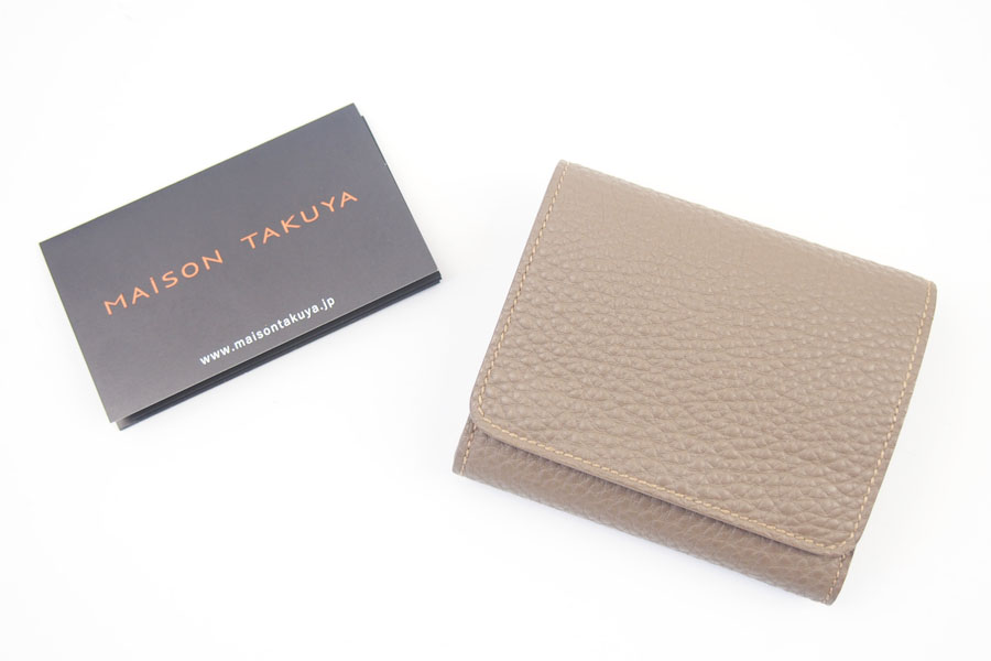 メゾンタクヤ|MAISON TAKUYA|小銭入れ付三つ折り財布|WX Wallet|ベージュ×ターコイズイメージ02