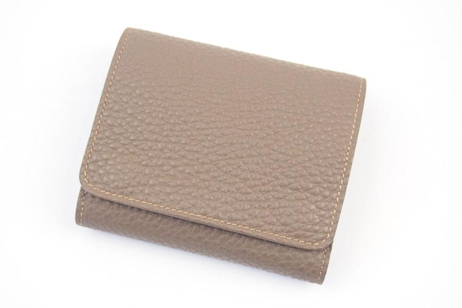 メゾンタクヤ|MAISON TAKUYA|小銭入れ付三つ折り財布|WX Wallet|ベージュ×ターコイズイメージ03