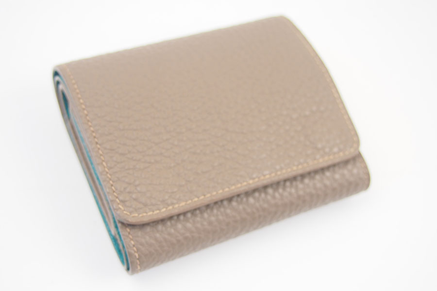 メゾンタクヤ|MAISON TAKUYA|小銭入れ付三つ折り財布|WX Wallet|ベージュ×ターコイズイメージ05