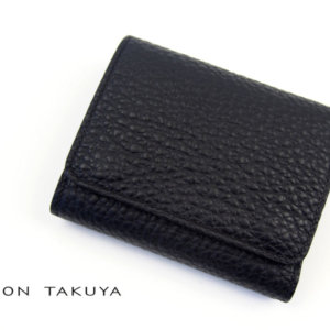 メゾンタクヤ|MAISON TAKUYA|小銭入れ付三つ折り財布|WX Wallet|ブラックイメージ01