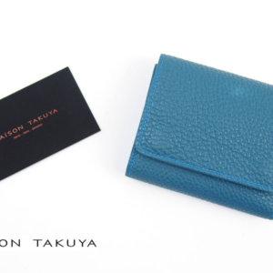 メゾンタクヤ|MAISON TAKUYA|小銭入れ付三つ折り財布|WX Wallet|オーシャンブルー×スカイブルーイメージ01