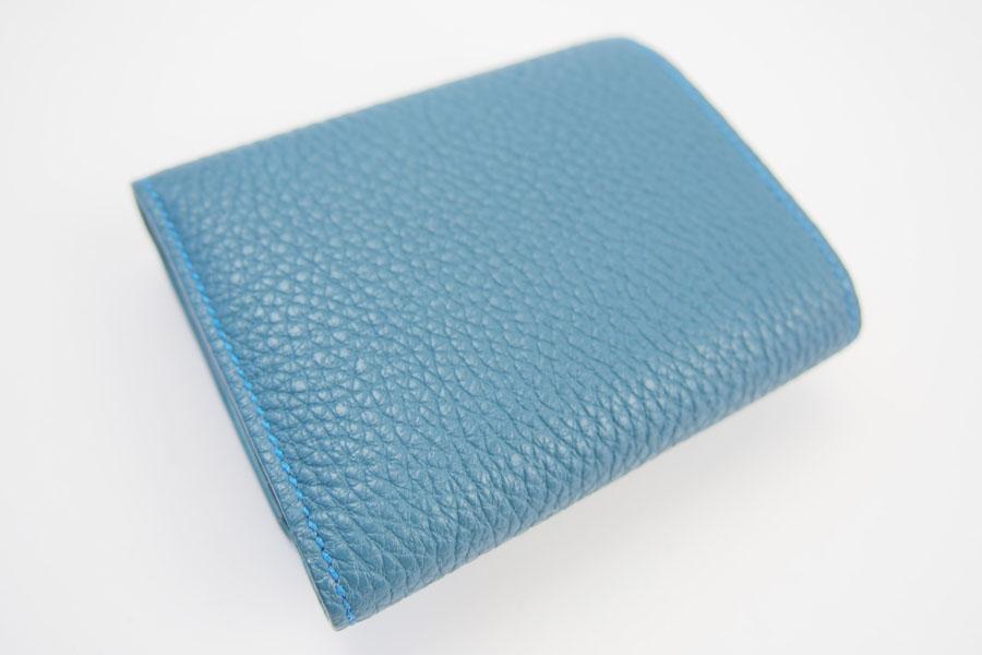 メゾンタクヤ|MAISON TAKUYA|小銭入れ付三つ折り財布|WX Wallet|オーシャンブルー×スカイブルーイメージ010