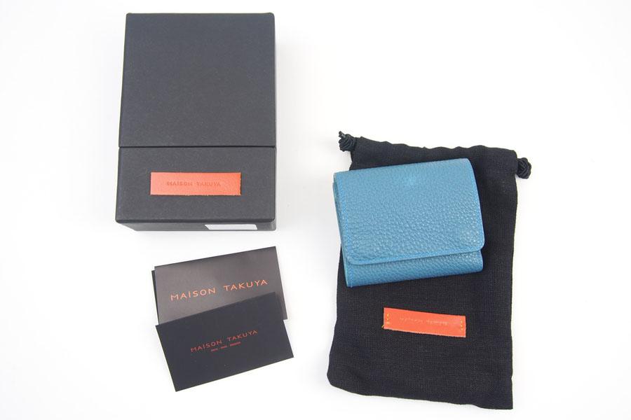 メゾンタクヤ|MAISON TAKUYA|小銭入れ付三つ折り財布|WX Wallet|オーシャンブルー×スカイブルーイメージ012