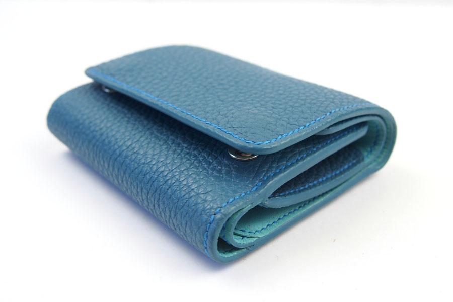 メゾンタクヤ|MAISON TAKUYA|小銭入れ付三つ折り財布|WX Wallet|オーシャンブルー×スカイブルーイメージ02