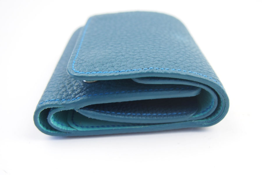 メゾンタクヤ|MAISON TAKUYA|小銭入れ付三つ折り財布|WX Wallet|オーシャンブルー×スカイブルーイメージ03