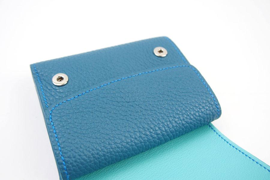 メゾンタクヤ|MAISON TAKUYA|小銭入れ付三つ折り財布|WX Wallet|オーシャンブルー×スカイブルーイメージ05