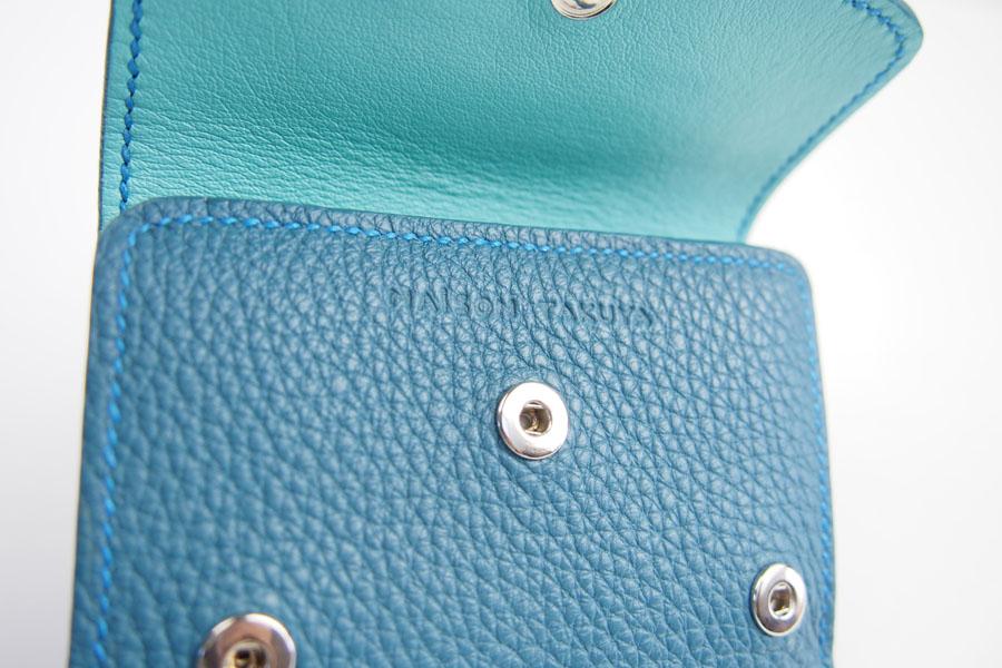 メゾンタクヤ|MAISON TAKUYA|小銭入れ付三つ折り財布|WX Wallet|オーシャンブルー×スカイブルーイメージ06