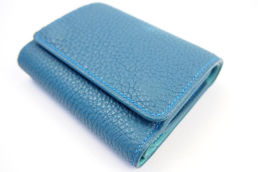 メゾンタクヤ|MAISON TAKUYA|小銭入れ付三つ折り財布|WX Wallet|オーシャンブルー×スカイブルーイメージ09