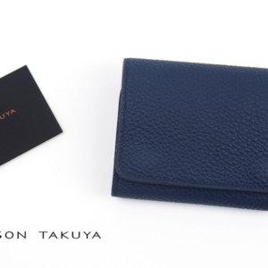 メゾンタクヤ MAISON TAKUYA 小銭入れ付三つ折り財布 WX Wallet ネイビー×ベージュイメージ01