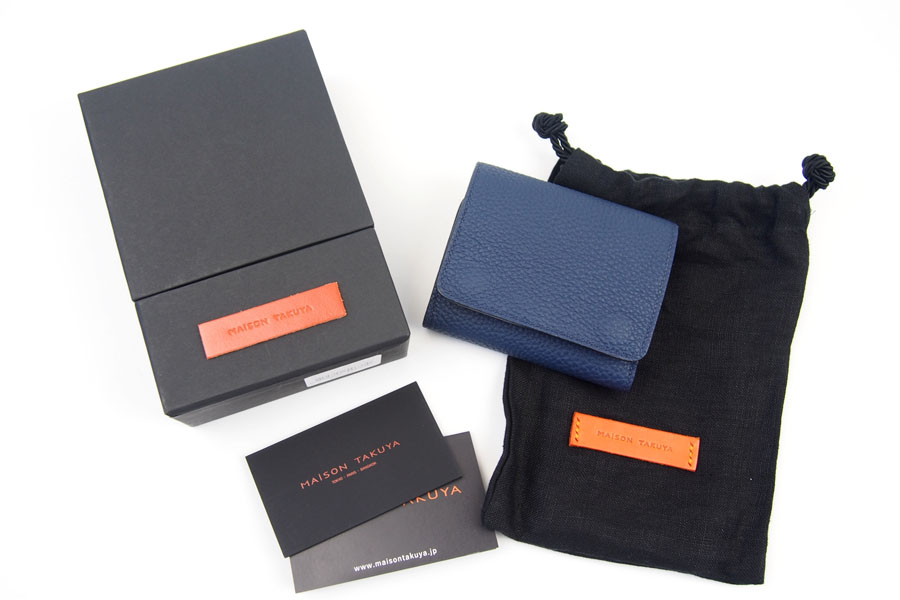 メゾンタクヤ MAISON TAKUYA 小銭入れ付三つ折り財布 WX Wallet ネイビー×ベージュイメージ013