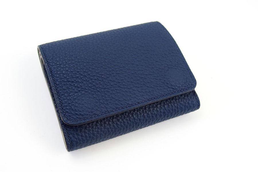 メゾンタクヤ MAISON TAKUYA 小銭入れ付三つ折り財布 WX Wallet ネイビー×ベージュイメージ02