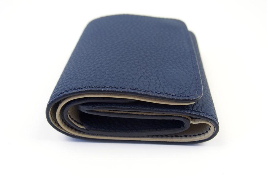 メゾンタクヤ MAISON TAKUYA 小銭入れ付三つ折り財布 WX Wallet ネイビー×ベージュイメージ03