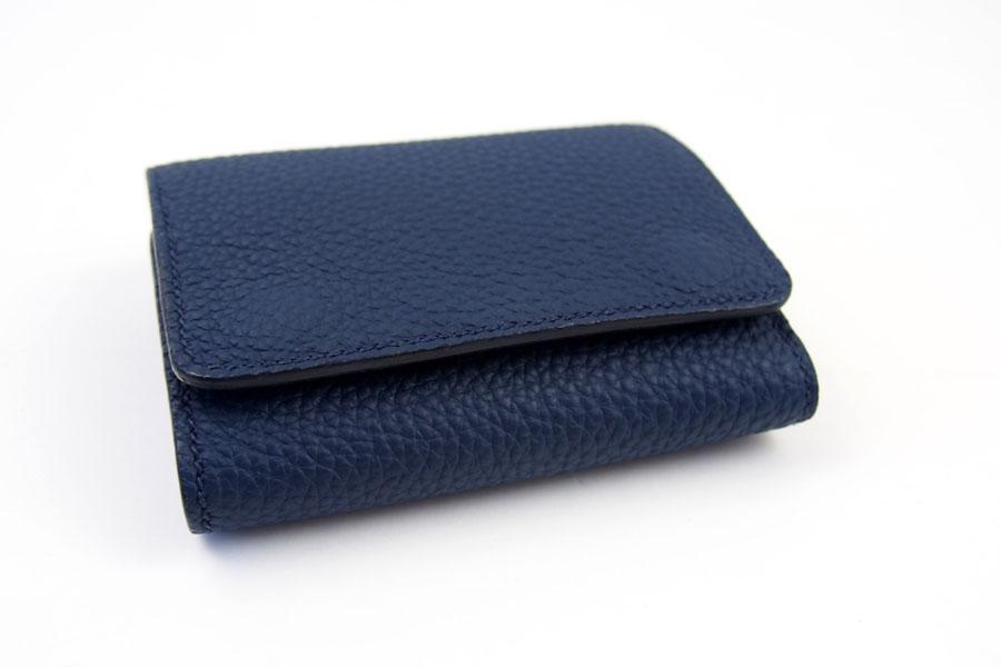 メゾンタクヤ MAISON TAKUYA 小銭入れ付三つ折り財布 WX Wallet ネイビー×ベージュイメージ04