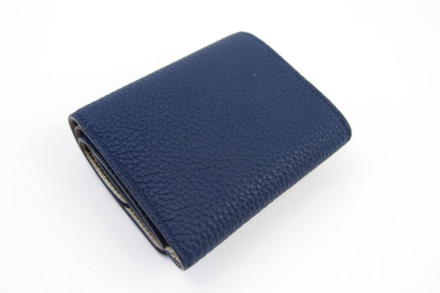 メゾンタクヤ MAISON TAKUYA 小銭入れ付三つ折り財布 WX Wallet ネイビー×ベージュイメージ06