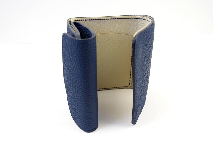 メゾンタクヤ MAISON TAKUYA 小銭入れ付三つ折り財布 WX Wallet ネイビー×ベージュイメージ07