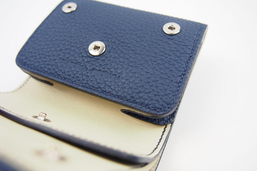 メゾンタクヤ MAISON TAKUYA 小銭入れ付三つ折り財布 WX Wallet ネイビー×ベージュイメージ08