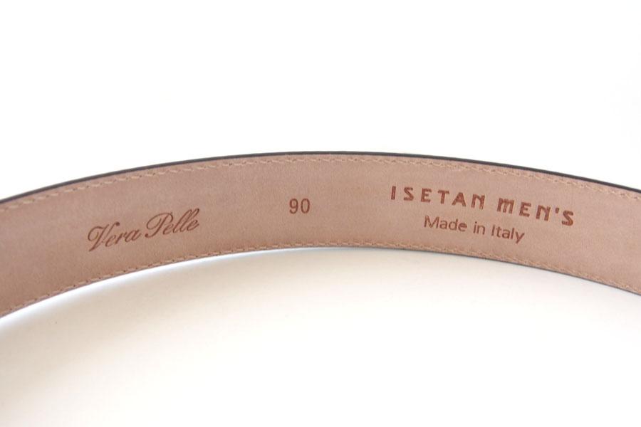 イセタンメンズ|ISETAN MEN'S|vella pelle ベルト|パティーヌ|ブラウン|90 イメージ04