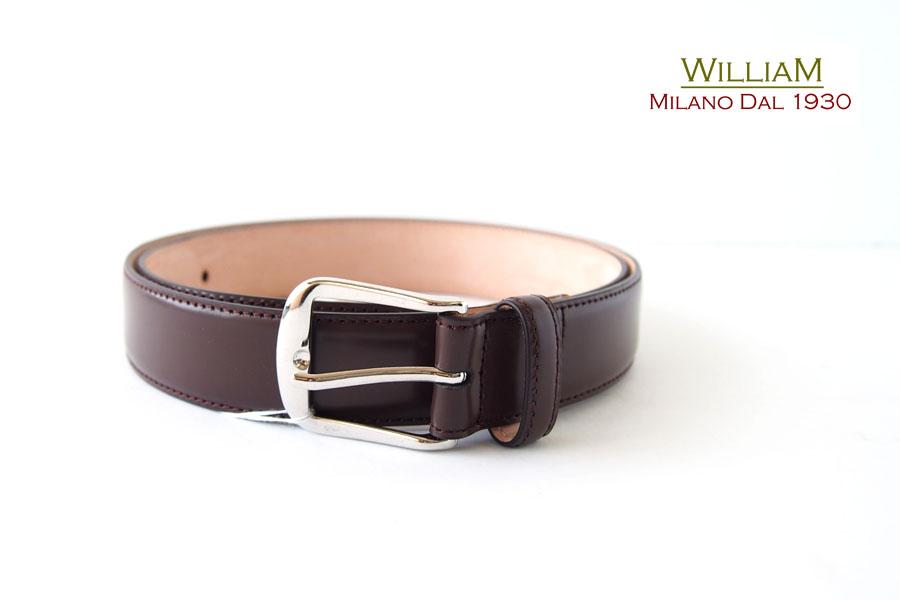 ウイリアム|WILLIAM Milano Dal 1930|レザーベルト|90|ブラウン イメージ01