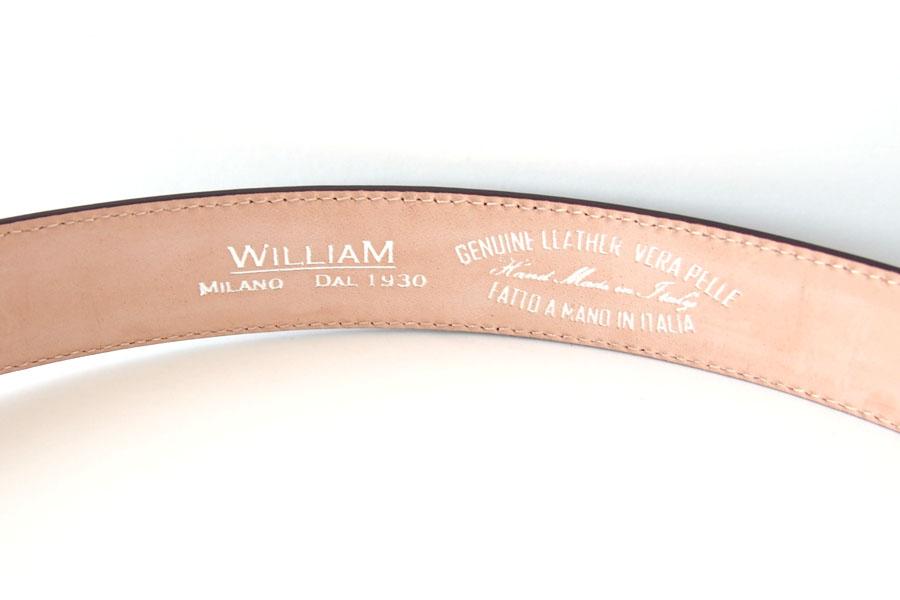 ウイリアム|WILLIAM Milano Dal 1930|レザーベルト|90|ブラウン イメージ07