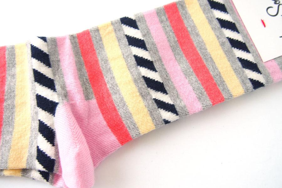 ハッピーソックス|happy socks|クルー丈カジュアルソックス|ボーダー柄イメージ04