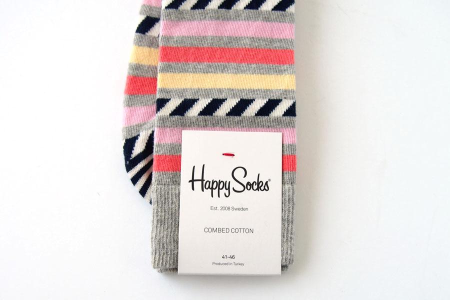 ハッピーソックス|happy socks|クルー丈カジュアルソックス|ボーダー柄イメージ05
