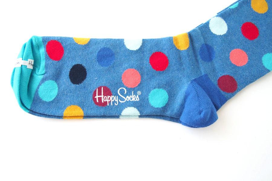 ハッピーソックス|happy socks|クルー丈カジュアルソックス|ビッグドット柄|BIG DOT SOCK|ブルー イメージ03