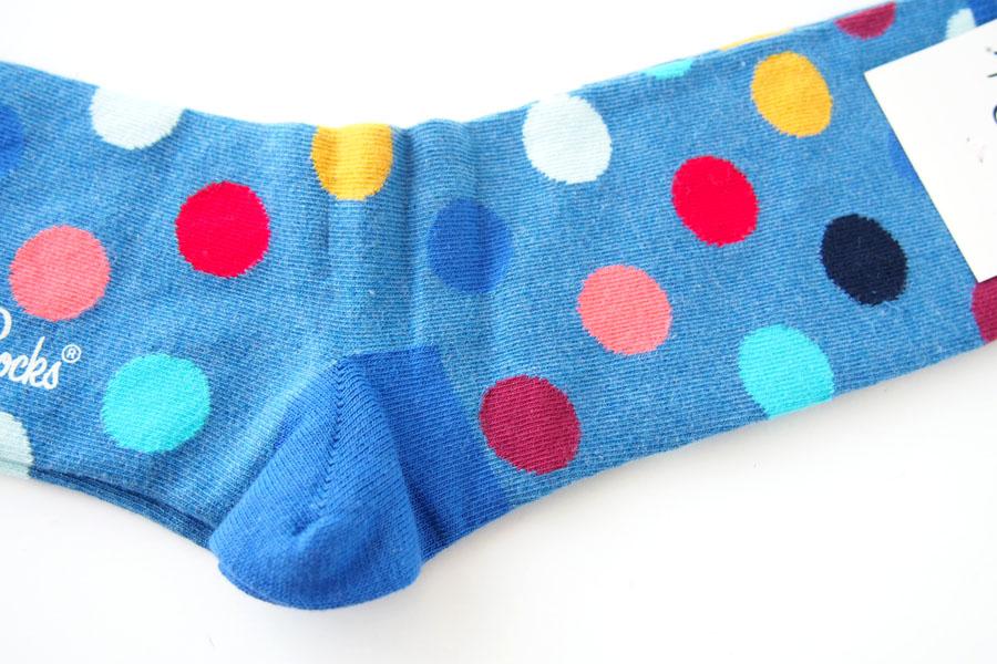 ハッピーソックス|happy socks|クルー丈カジュアルソックス|ビッグドット柄|BIG DOT SOCK|ブルー イメージ04